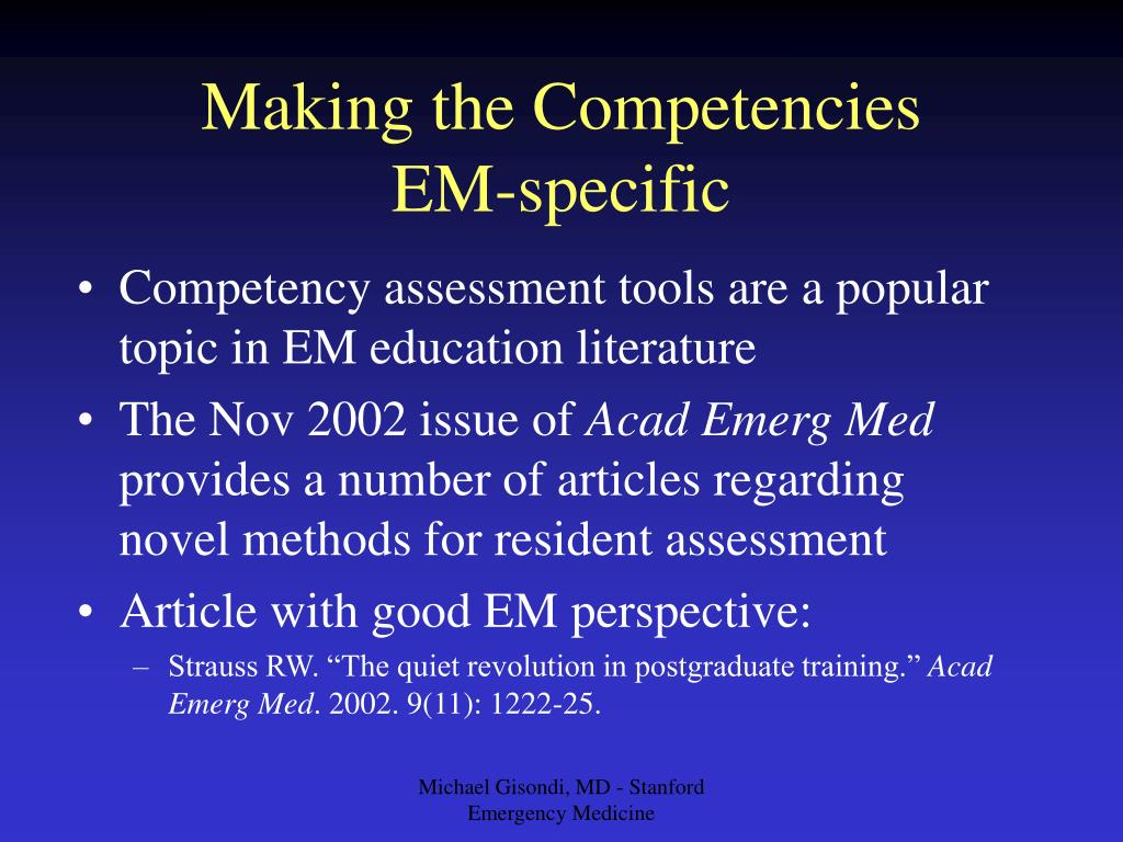 Making the Competencies