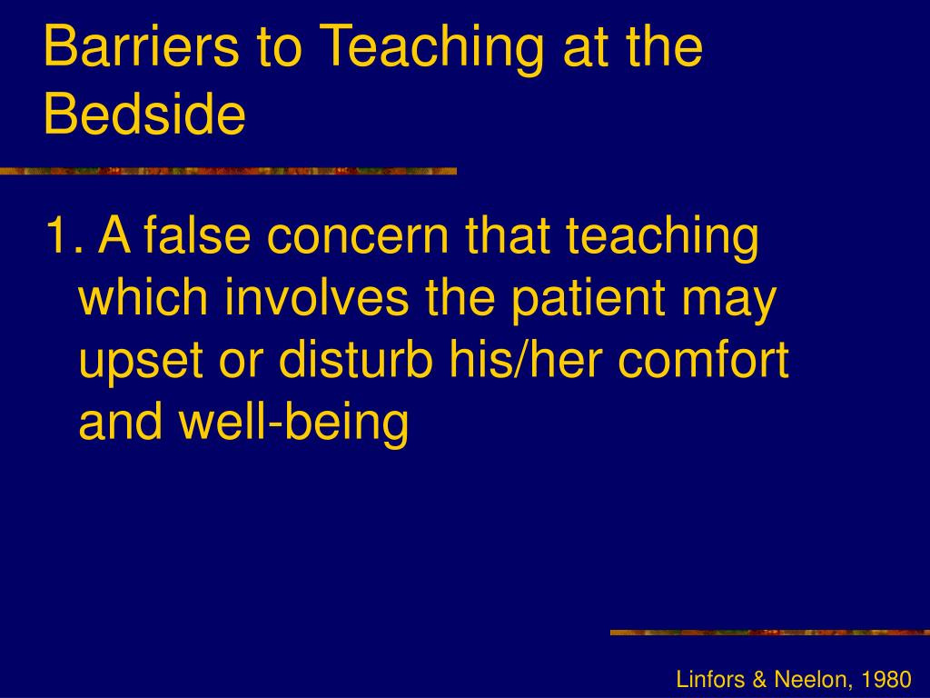 Barriers to Teaching at the Bedside