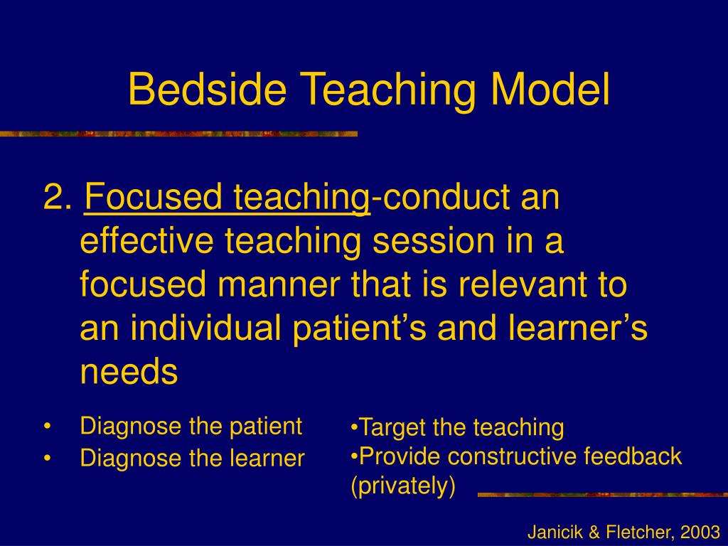 Bedside Teaching Model