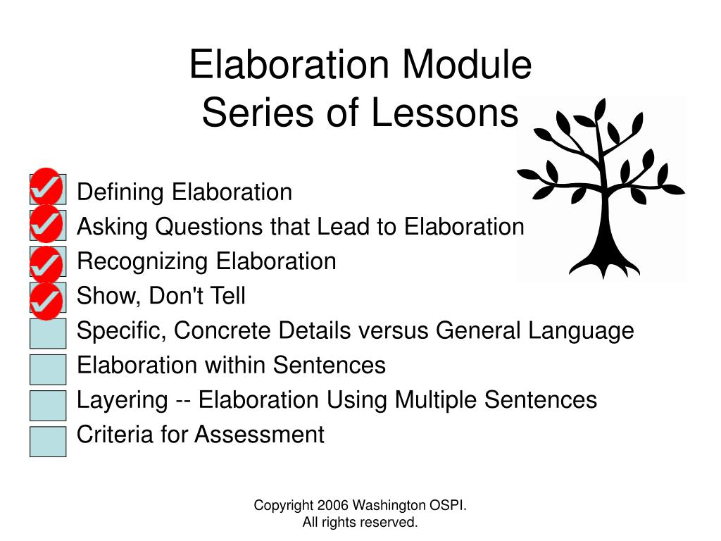 Elaboration Module