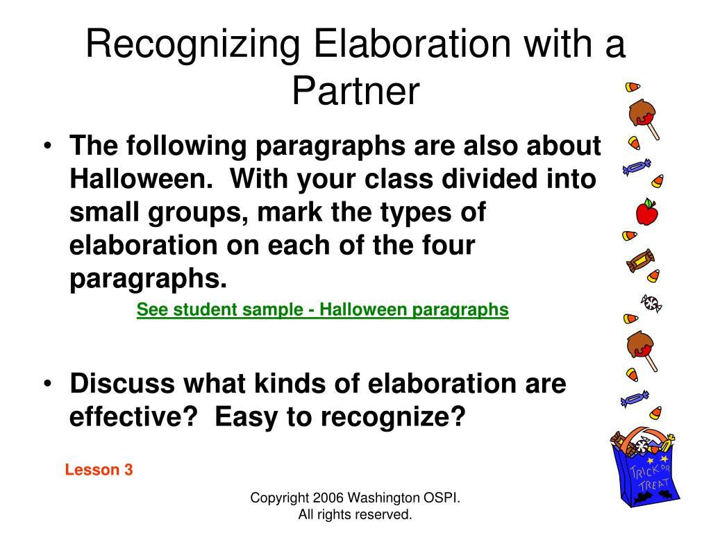 Recognizing Elaboration with a Partner