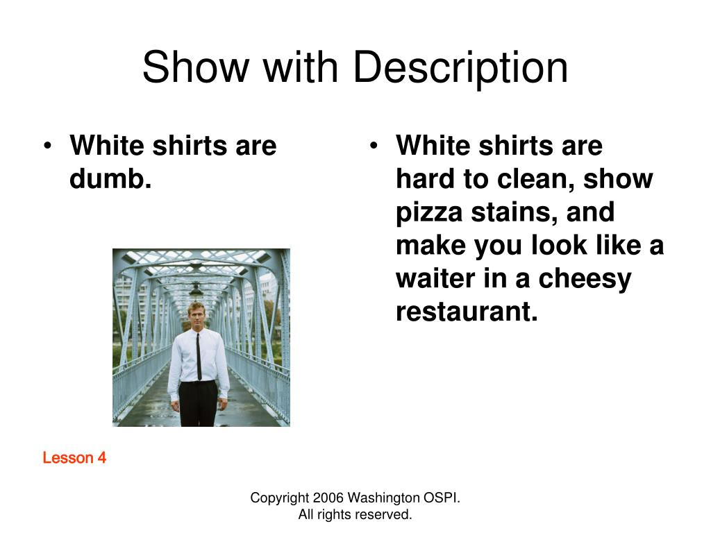White shirts are dumb.