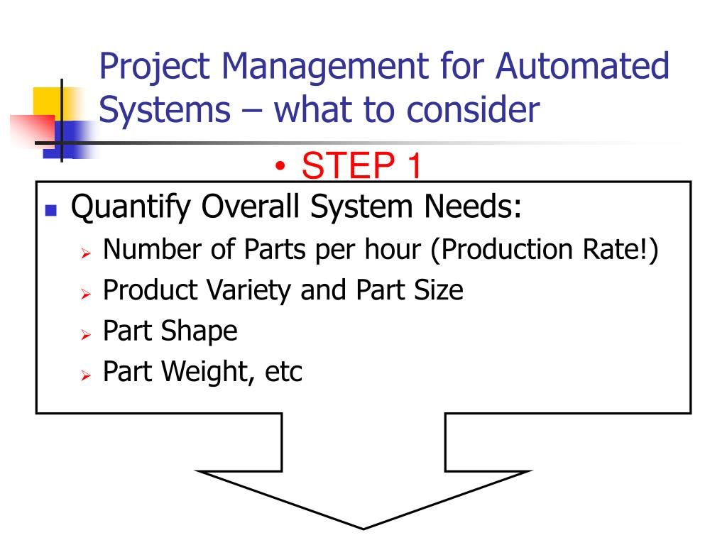 Project Management for Automated Systems – what to consider