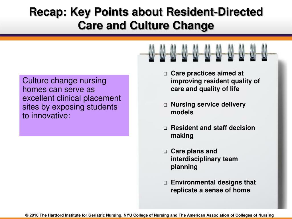 nursing home culture change