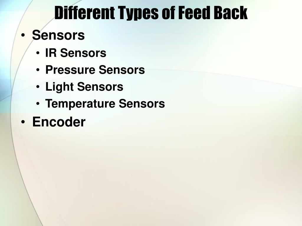 Different Types of Feed Back