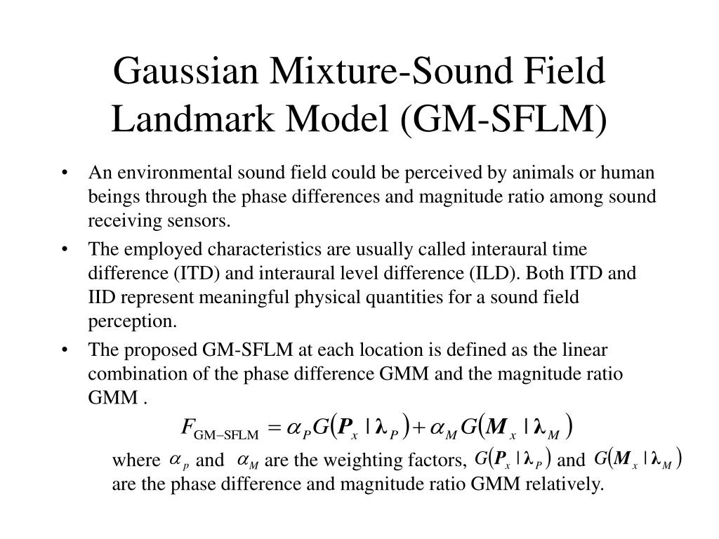 Gaussian Mixture-Sound Field Landmark Model (GM-SFLM)