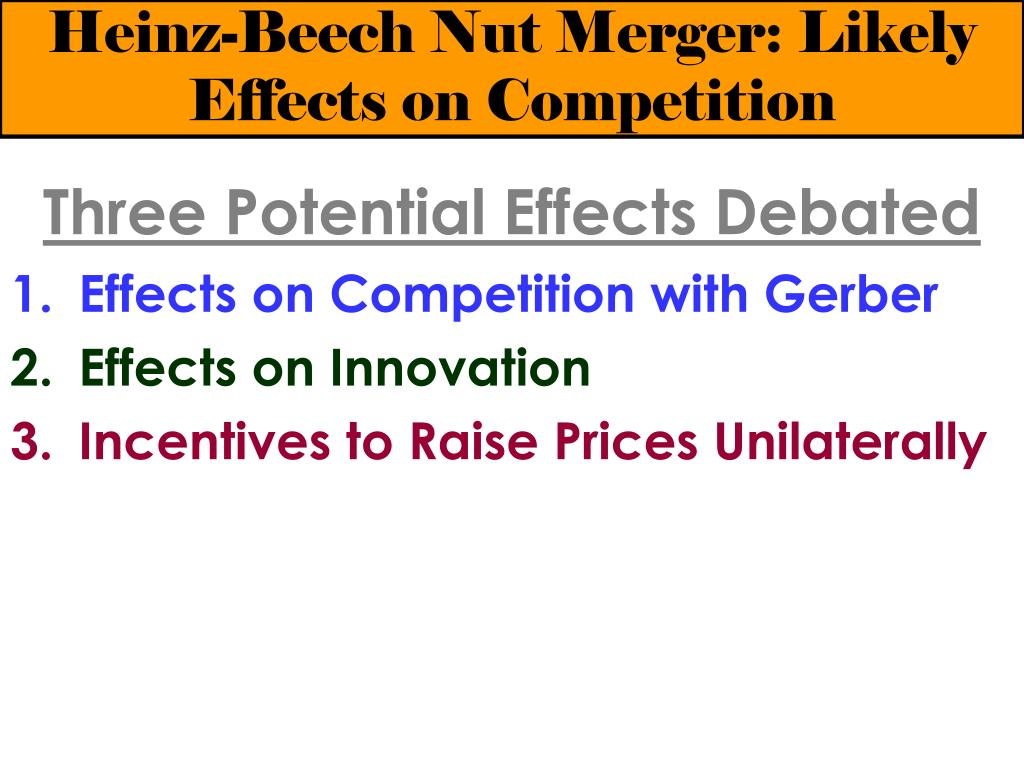 Heinz and Beech-Nut Case