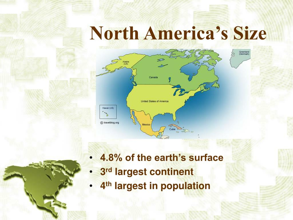 North America's Size