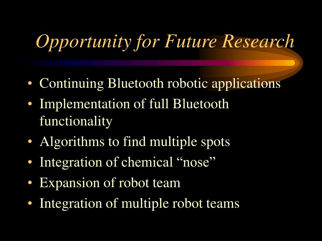 Opportunity for Future Research