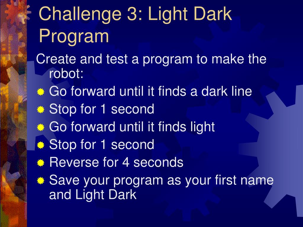 Challenge 3: Light Dark Program