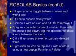 robolab basics cont d