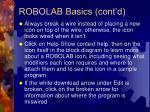 robolab basics cont d23