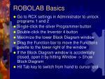 robolab basics