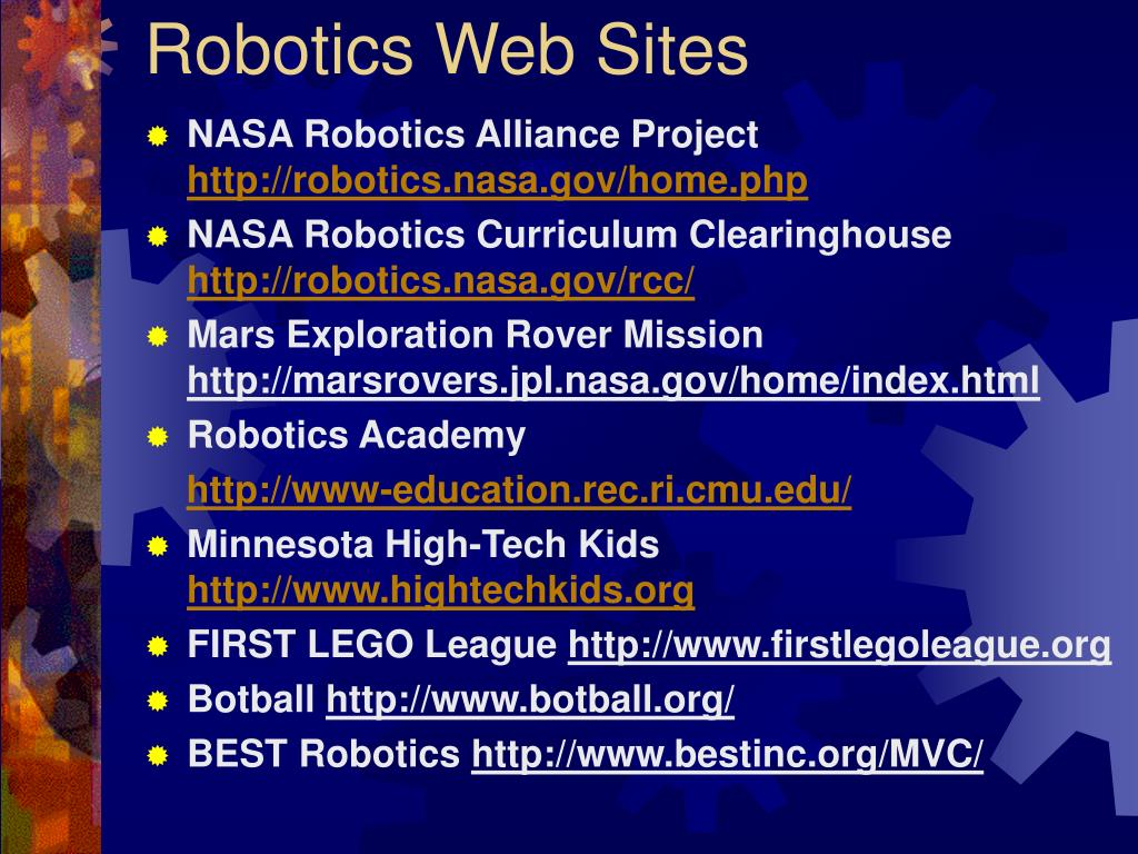 Robotics Web Sites