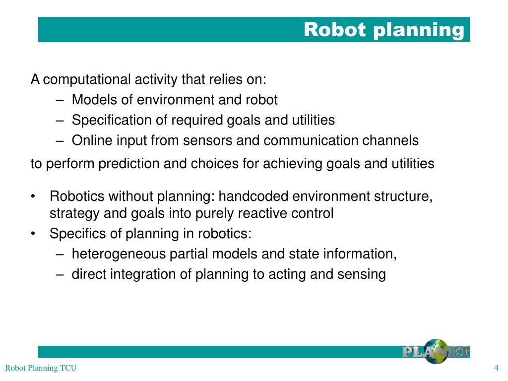 Robot planning