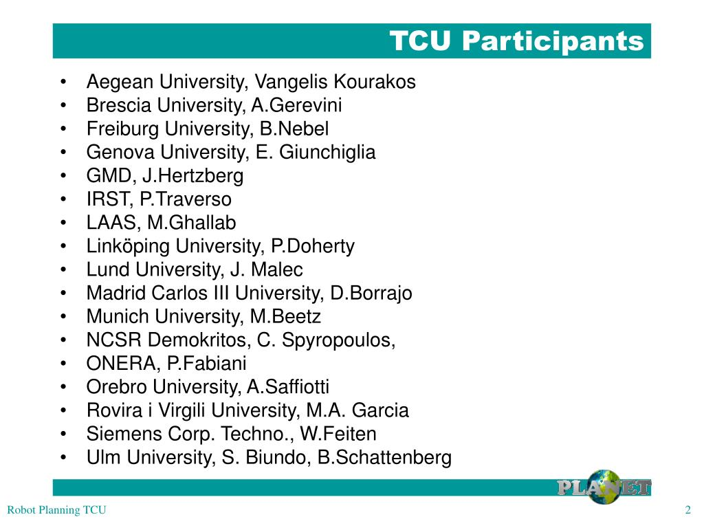 TCU Participants