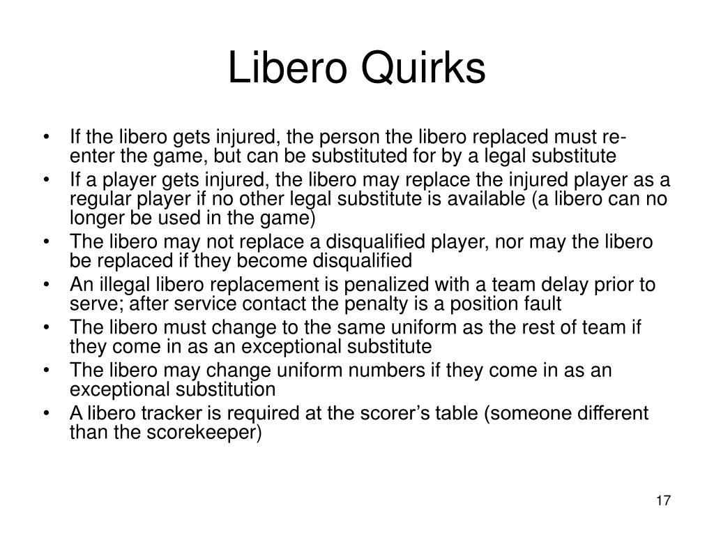 Libero Quirks