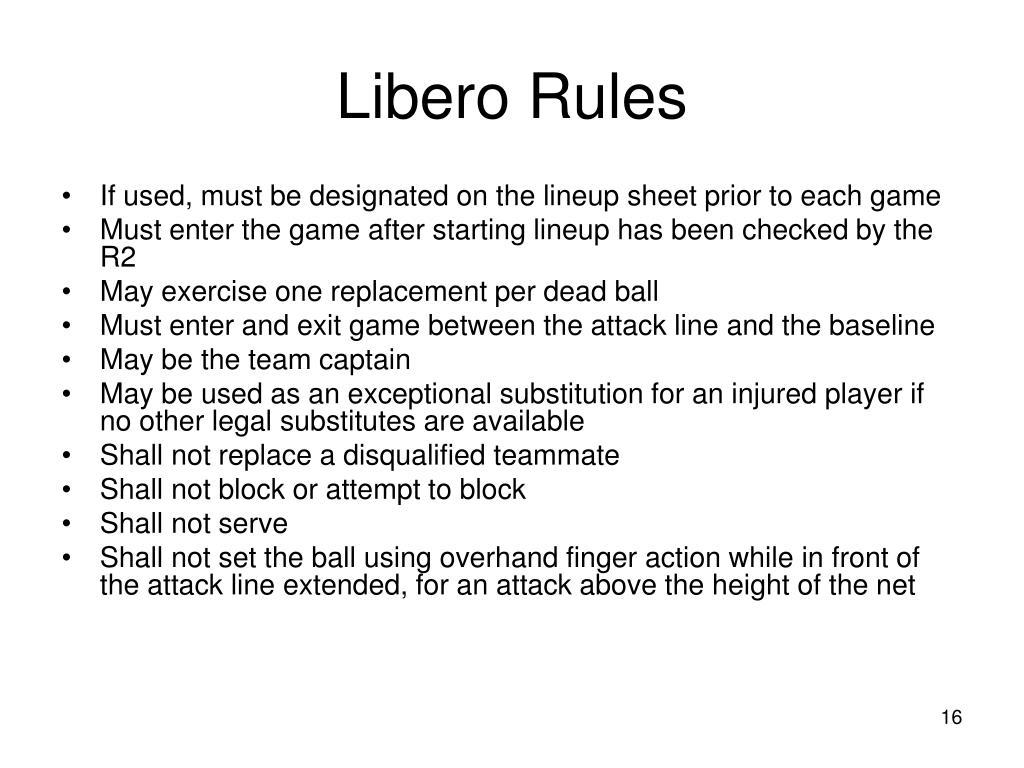 Libero Rules