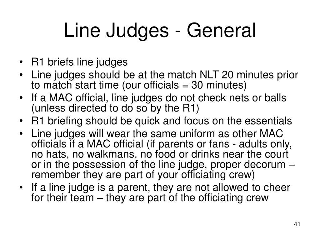 Line Judges - General