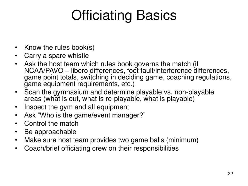 Officiating Basics