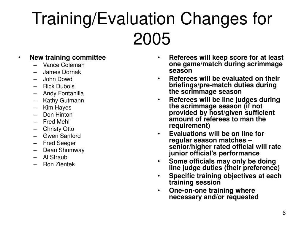 New training committee