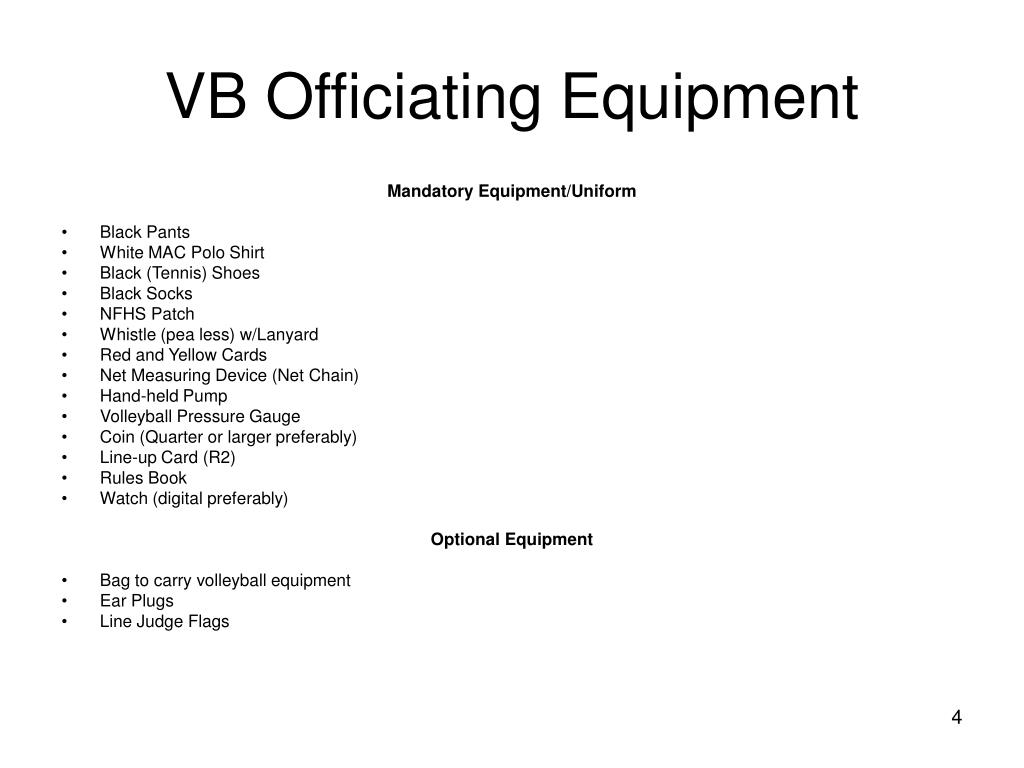 VB Officiating Equipment
