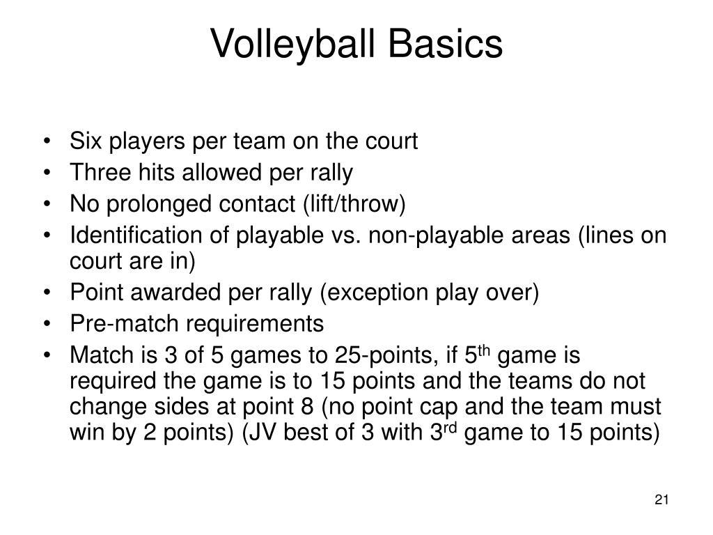 Volleyball Basics
