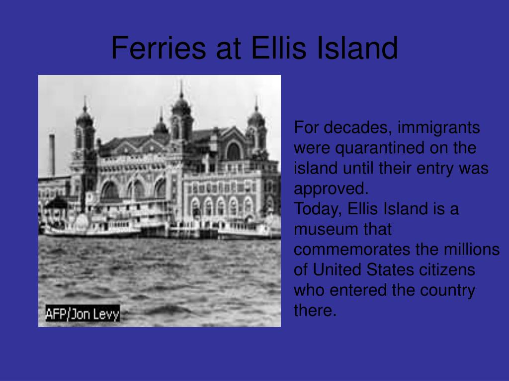 Ferries at Ellis Island