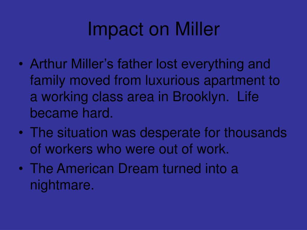 Impact on Miller