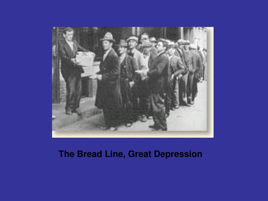 The Bread Line, Great Depression