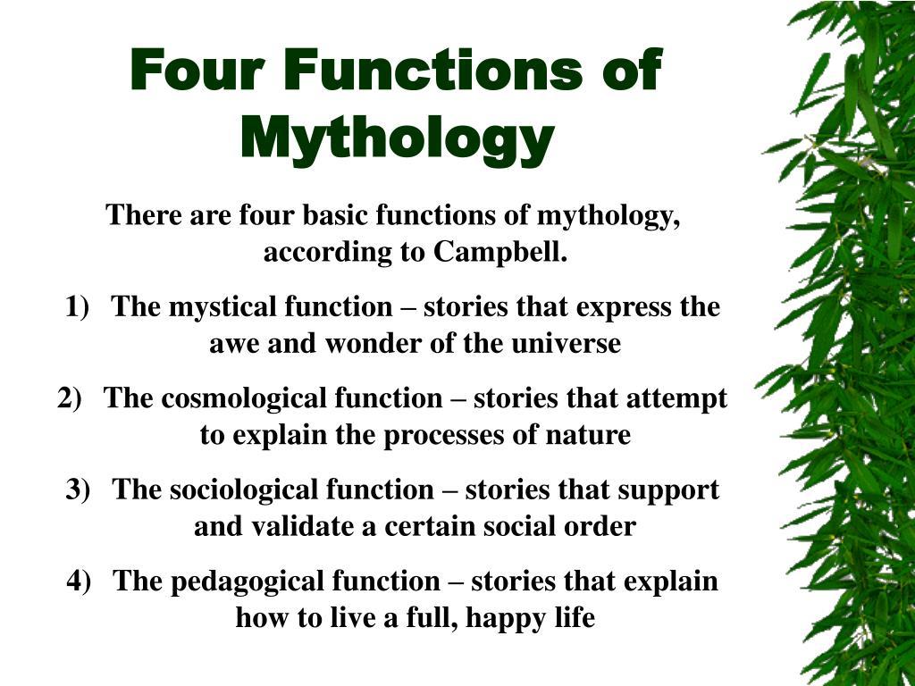 Four Functions of Mythology