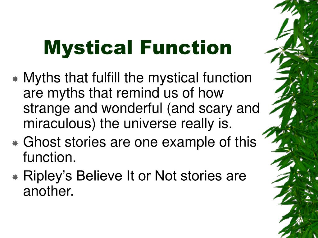 Mystical Function