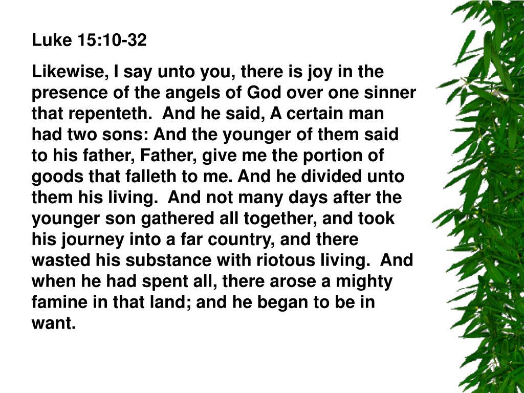 Luke 15:10-32
