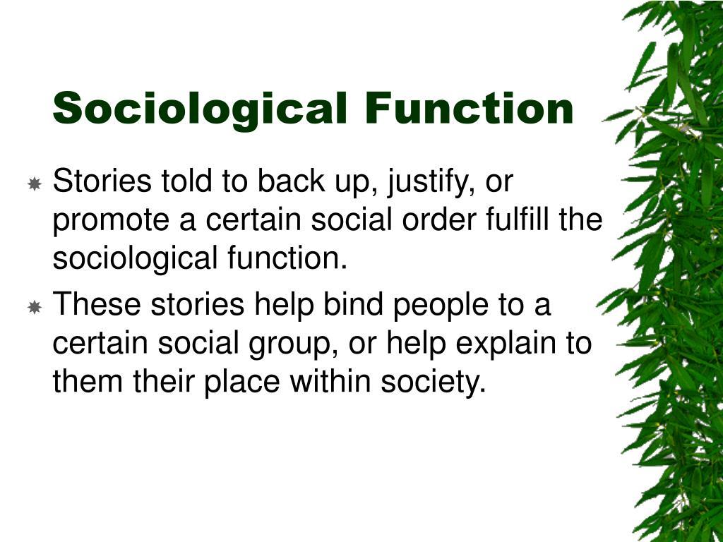 Sociological Function