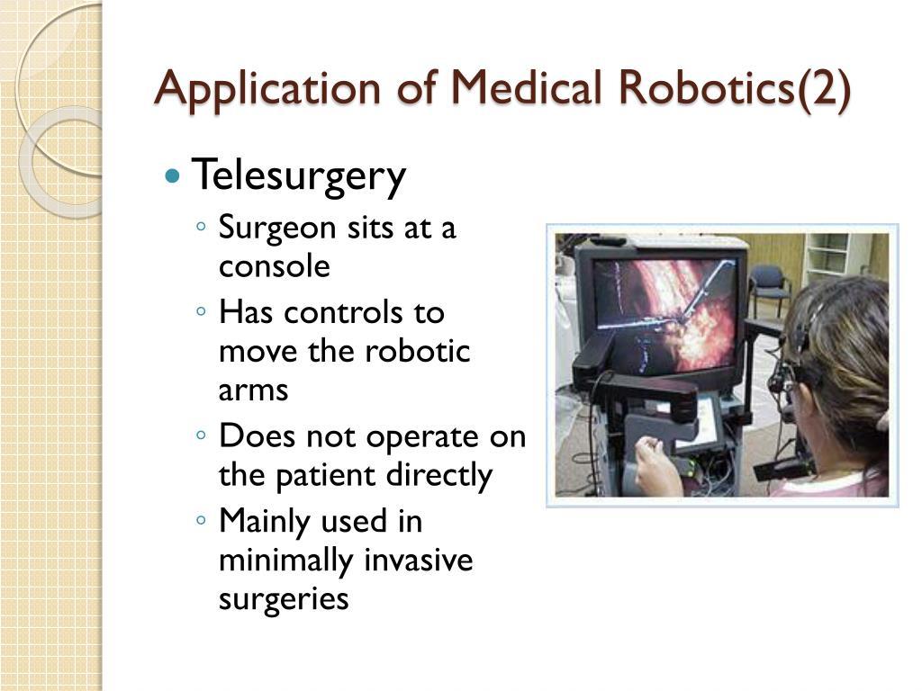 Application of Medical Robotics(2)