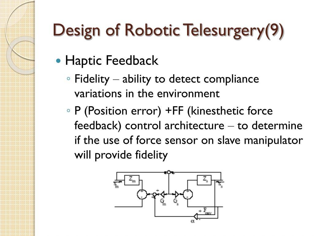Design of Robotic Telesurgery(9)
