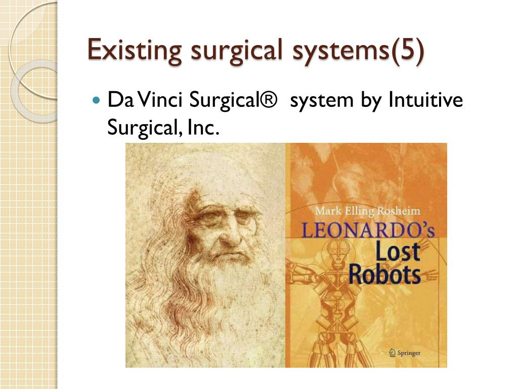 Existing surgical systems(5)