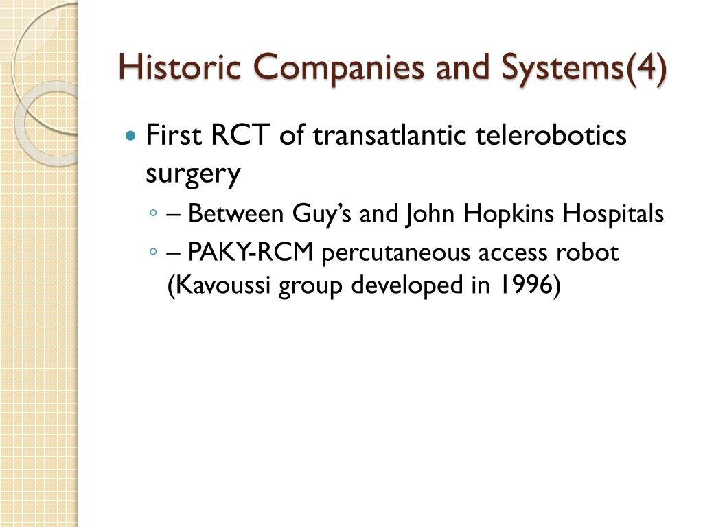 Historic Companies and Systems(4)