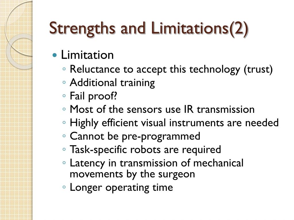 Strengths and Limitations(2)