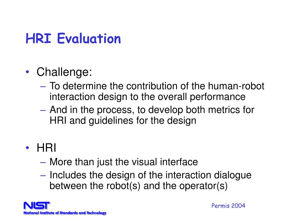 HRI Evaluation