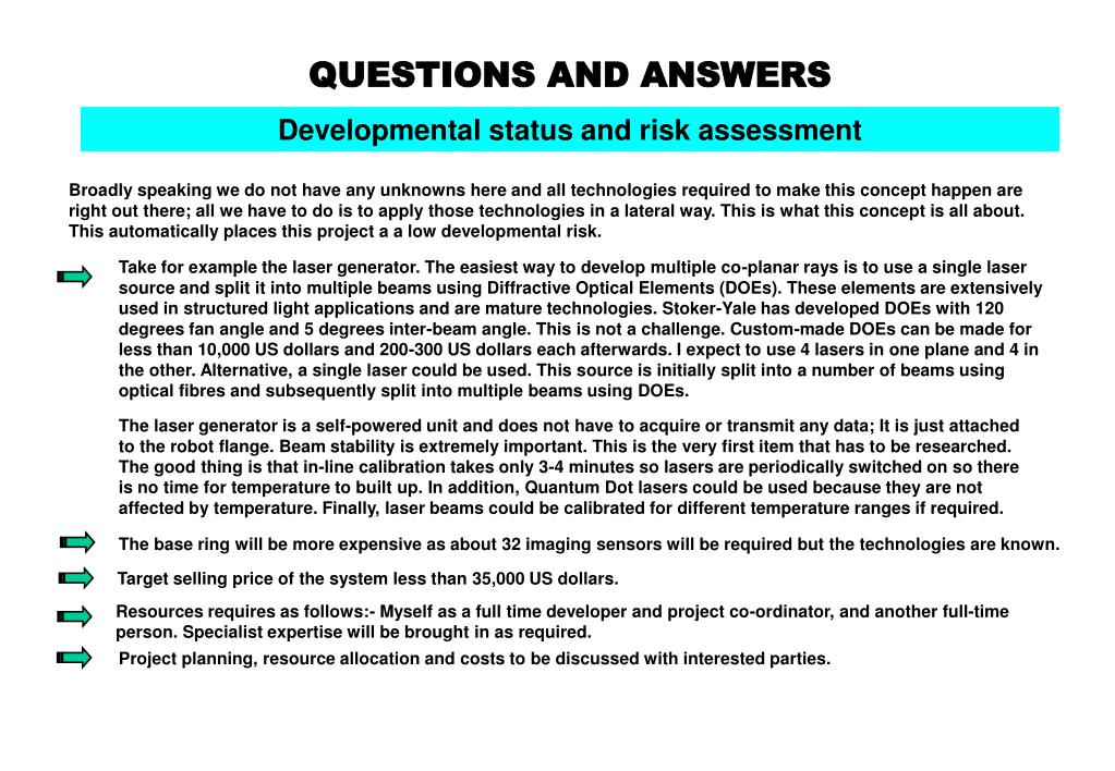 Developmental status and risk assessment