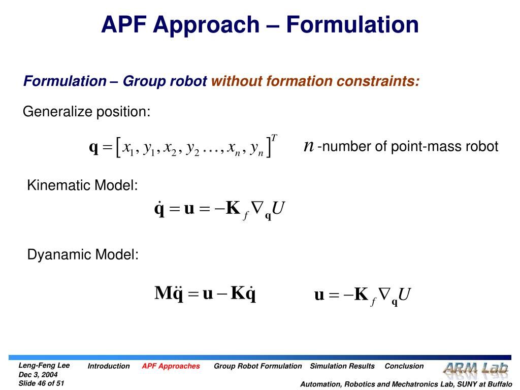 APF Approach – Formulation