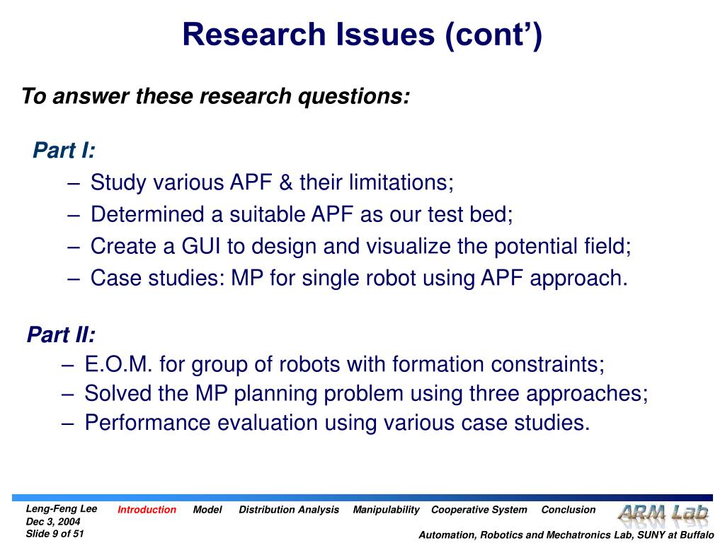 Research Issues (cont')
