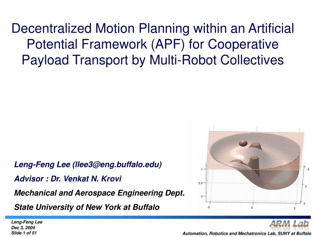 Decentralized Motion Planning within an Artificial Potential Framework (APF) for Cooperative Payload Transport by Multi-Robot Collectives