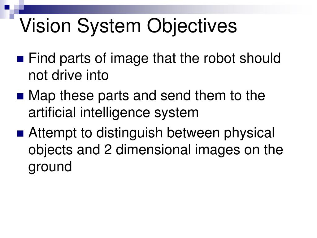 Vision System Objectives