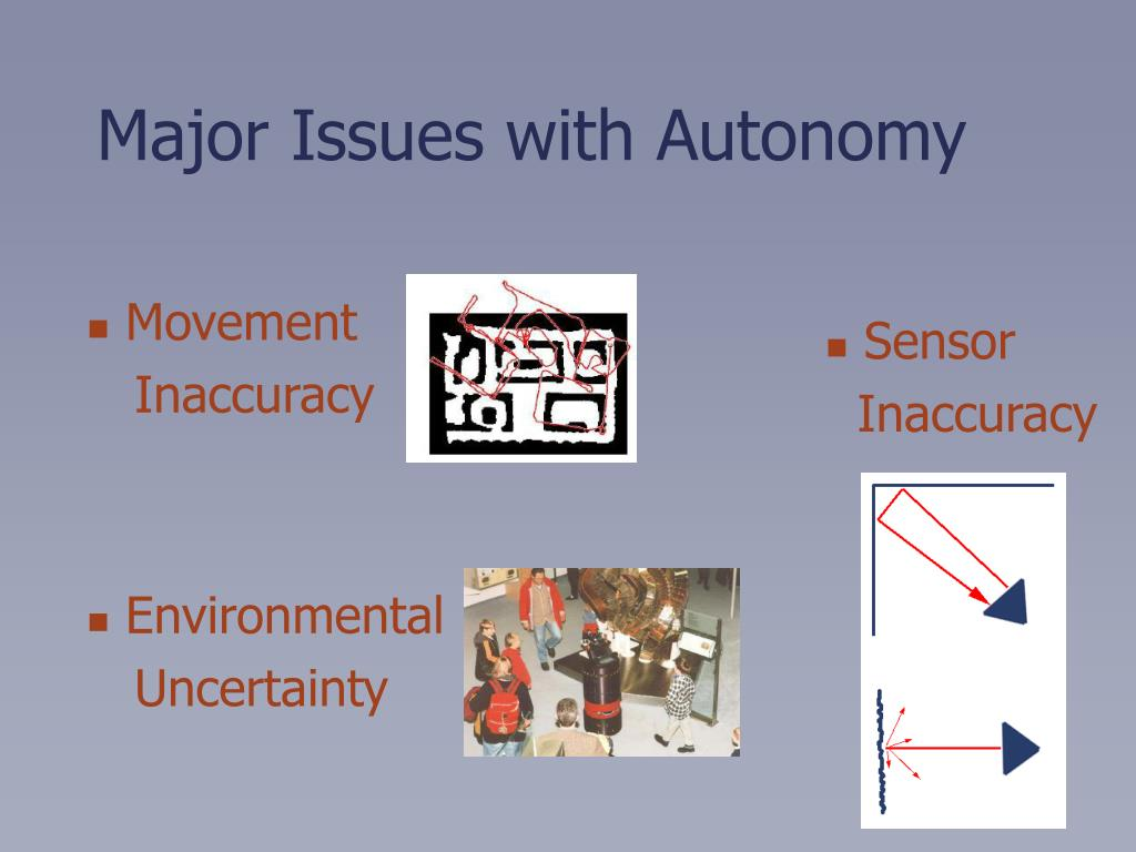 Major Issues with Autonomy