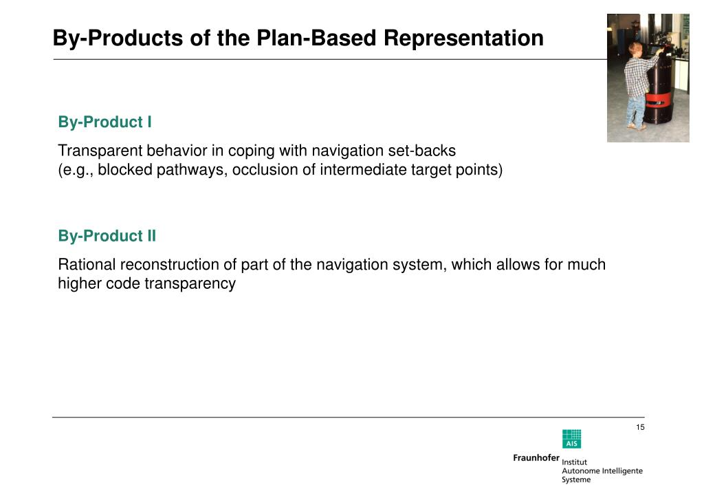 By-Products of the Plan-Based Representation