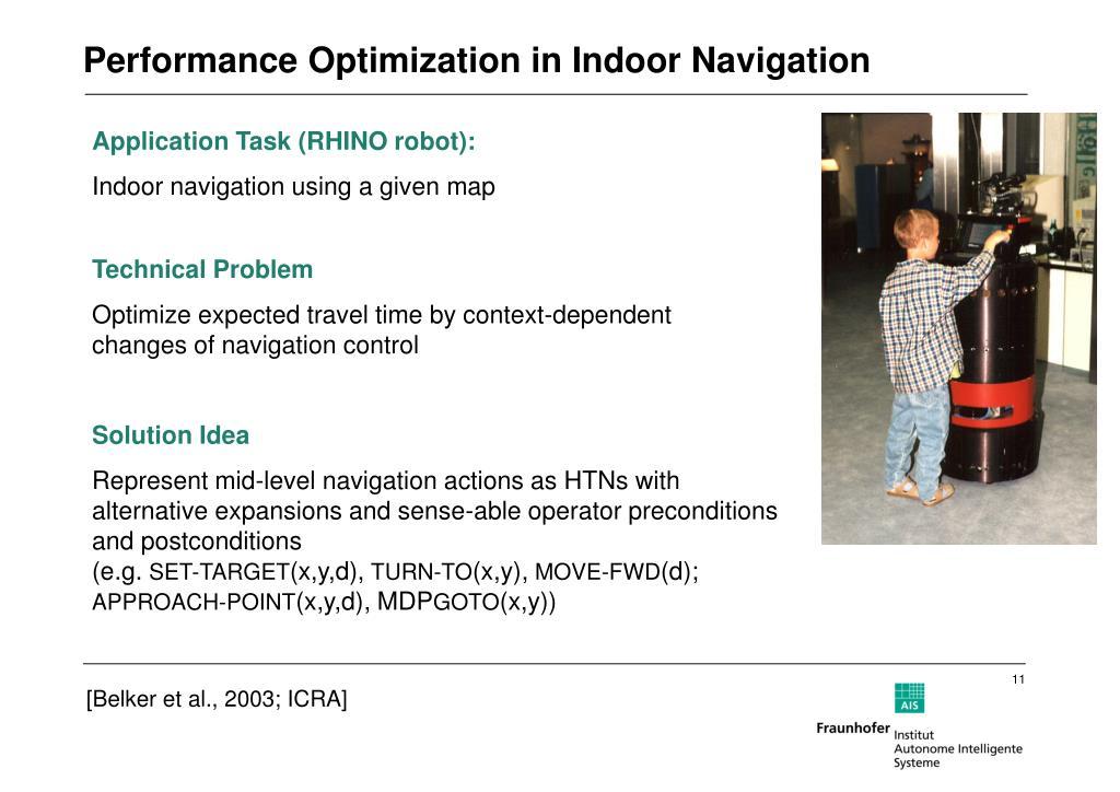 Performance Optimization in Indoor Navigation