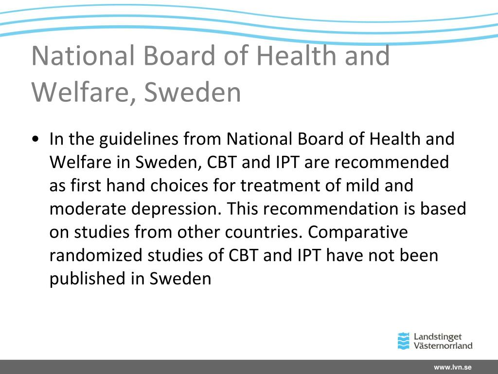 National Board of Health and Welfare, Sweden