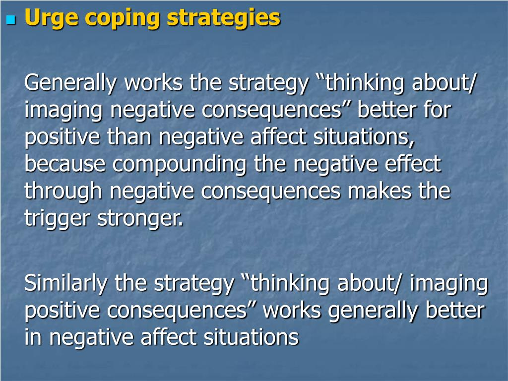 Urge coping strategies